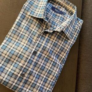 ZEGNA Button Down Shirt. Size X-Large